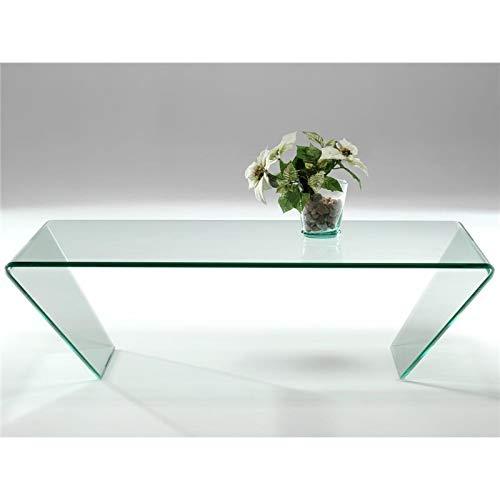 Mesa de Centro de Cristal Curvado Dainan 115 cm