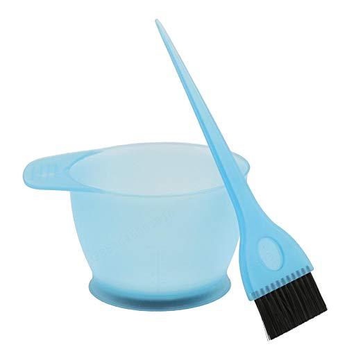LAQI Kit de Pinceaux de Peigne de Mélange de Couleur Bleu Set d'Outils de Teinture Bol de Couleur pour Le Cheveux de Coiffure, comme décrit