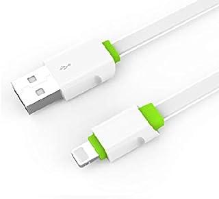 كابل USB للشحن السريع من لدنيو LS-34، كابل لايتنينج للحماية من الانقطاع التلقائي 1 متر، ابيض 2.4 / 3 امبير لاجهزة ابل