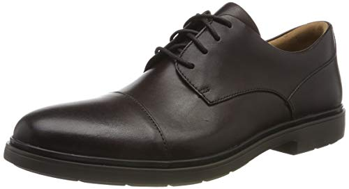 Clarks Un Tailor Cap, Zapatos de Cordones Derby para Hombre, Braun Ox Blood Leather Ox Blood Leather-Funda de Piel, 44.5 EU