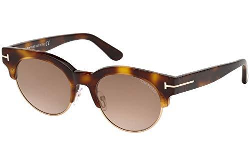 Tom Ford FT0598 Henri-02 zonnebril, bruin blond met bruine glazen, 53G TF598 FT598
