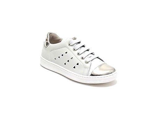 Scarpa Bambina Ragazza,Twin Set HS68D1, Sneakers in Pelle, Colore Ghiaccio