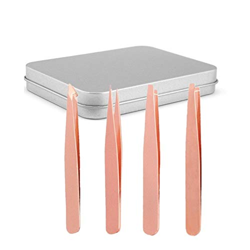 Brucelles Pincette Produits de Maquillage Professionnel Pincettes de précision Pince à Épiler Sourcils Produits Meilleure Précision pour Sourcils