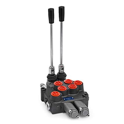 OldFe 2 SPOOL Hydraulikventil Handhebelventil 8 GPM valve adjustable 3600 PSI Hydraulische Ventil