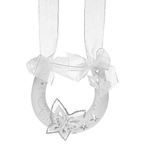 KWH Joe Davies weißer Schmetterling Glücksband hängendes Hufeisen Hochzeitsgeschenk Andenken