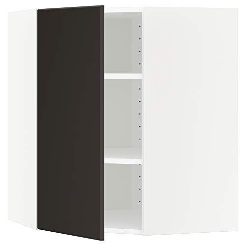 METOD hörnväggskåp med hyllor 67,5 x 67,5 x 80 cm vit/Kungsbacka antracit