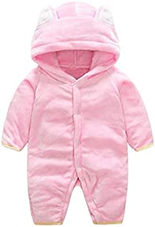 Baby Girl Clothes, Flannel Jumpsuit 0-3 Months Baby Girl Clothes, Warm Fleece Winter Clothes Baby Clothes Girl for Wear on The Body Gift Photograph Home Outdoor (Color : A, Kid Size : Newborn)