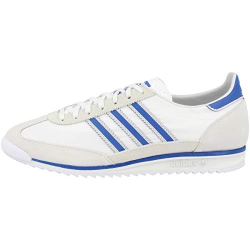 adidas Herren Sl 72 Sneaker, Weiß, Blau, Grau, 42 2/3 EU