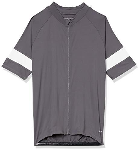 Amazon Essentials Camiseta de Ciclismo de Manga Corta Camisa, Color Carbón, S