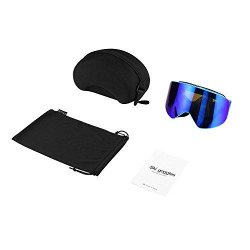 Dubbellaagse skibril UV-anticondensbril Schaatsen Snowboardbrillen Blauw