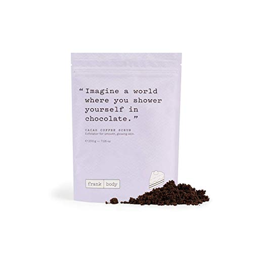 Frank Body Cacao Coffee Scrub | Natural & Cruelty Free Exfoliating Body Scrub | Hydrating Vegan Scrub For Skin Care, Stretch Marks, Acne, And Cellulite | 1ct, 200g -- 7.05oz