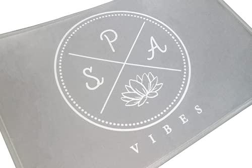NNGT Alfombra Antideslizante Alfombra de Baño Alfombra Espuma de Memoria Alfombra Suave y Absorve (40 x 60 cm) (Gris Claro)