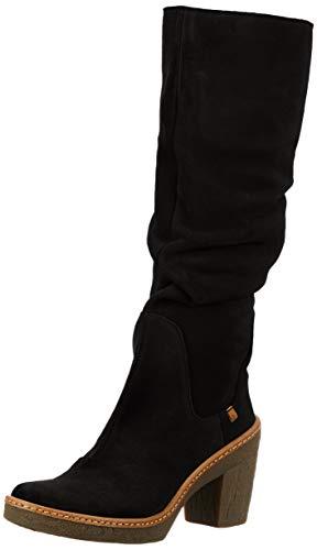 El Naturalista N5178, Botas Altas para Mujer, Negro (Black 000), 42 EU