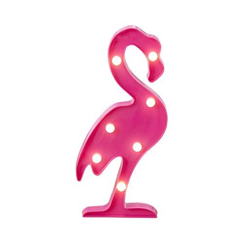 HENY Flamenco De Dos Colores Led Señales Luminosas Luz De Neón Luminoso Led para El Bar De Luz Bedroomneon Bebé Luz para Niños Partido-Rojo Rosa