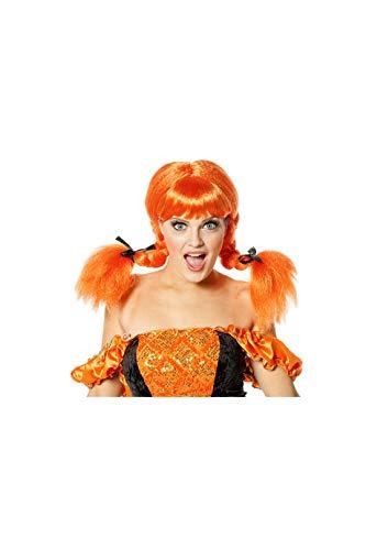 Jannes Perücke Lisa Deluxe Orange Zöpfe geflochten Damenperücke