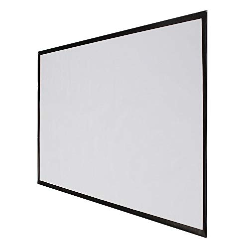 HUIO Projector Screen 16:9 PVC Fabric Matte Projector Projection Screen Portable 72 Inch Front and Rear Projection (Color : White, Size : 72 Inch)