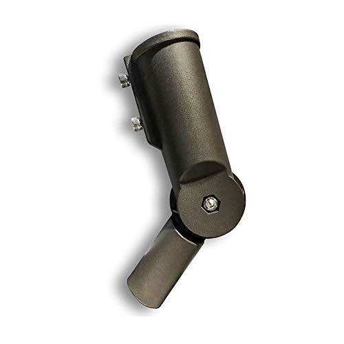 Supporto / Adattatore Alluminio Regolabile 120° per Lampade Armature Stradali LED