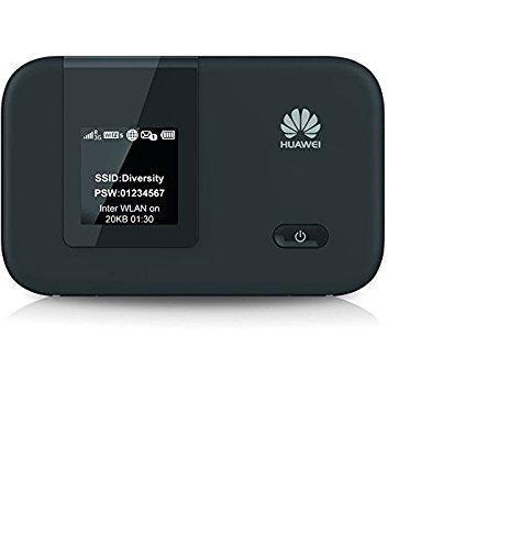Huawei 4G Mobile E5372 WiFi Hotspot für 10 Geräte (GSM, GPRS, UMTS, EDGE, HSUPA, HSPA+ WLAN MiFi Hotspot, LTE Cat.4 150Mbps) schwarz