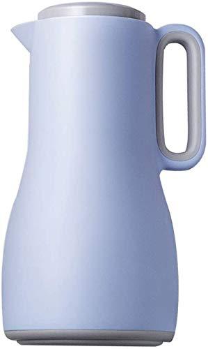 ZCRR 1.5l Pote Aislante De La Jarra De Vacío, Tetera De Vidrio para El Hogar Tetera De Gran Capacidad Aislamiento A Largo Plazo Bloqueo De Agua Fría(Color:Blue)