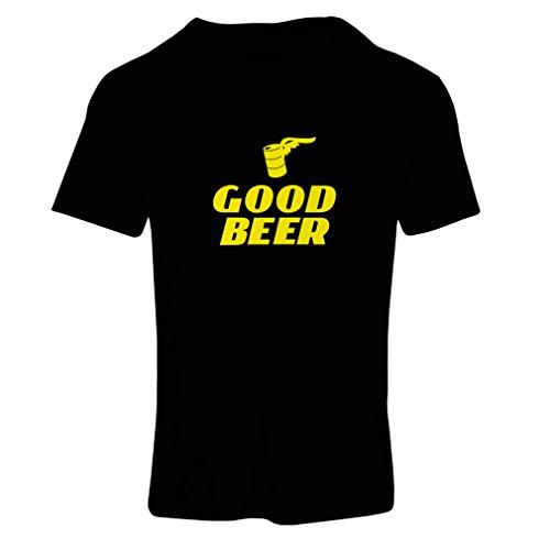 lepni.me Frauen T-Shirt Ich Brauche EIN gutes Bier, Geschenk für Bierliebhaber Partykleidung (Small Schwarz Gelb)