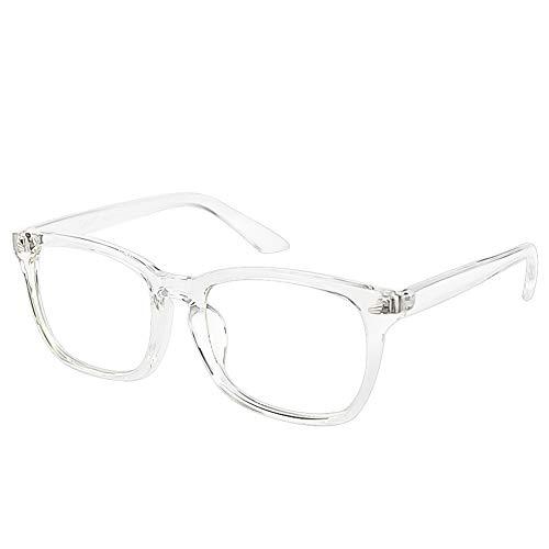 Cyxus - Gafas lisas con lentes transparentes, estilo vintage, estilo retro, para hombres y mujeres, montura de gafas unisex