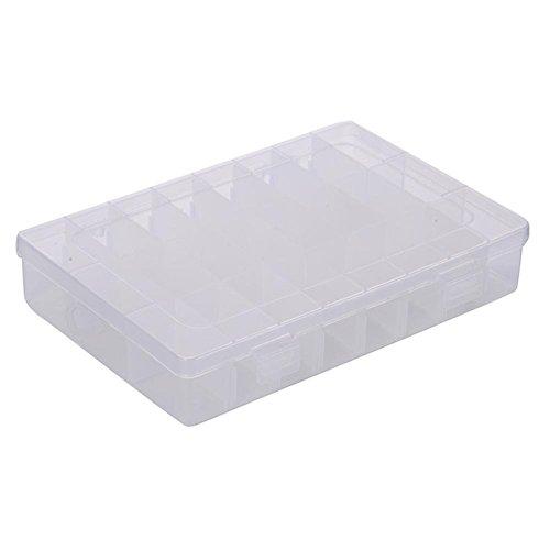 LAAT Stabile Sortierbox Sortierbox Sortierkasten Schmuckkasten Schmuck Perlen Box Perlenbox Sortierbox Transparent 24 Raster
