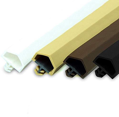 Gummidichtung Dichtungen aus Gummi Tür Fenster Profildichtung Universal Dichtband Holzzargendichtung Flügelfalzdichtung Dichtungsprofil (30 Meter, Weiß)