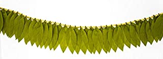 Desi Favors Artificial Mango Leaves for toran and Indian Wedding Decorations/Diwali/Pooja Decorations - 6 feet Long