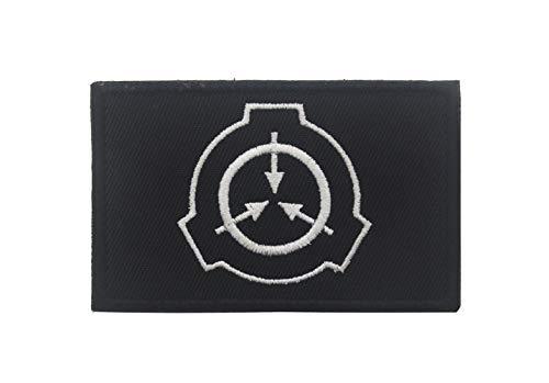 SCP Foundation Patch Special Containment Proedures Foundation Logo bestickt Moral Badge Armband Emblem Geschenk für Militärmützen Rucksack Mantel Weste (schwarz)