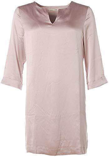 Barbara Becker Damen 3/4 Arm Kleid Dress Etuikleid V-Ausschnitt Seide Malve 38