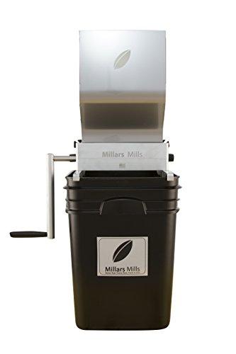 Millar's Pilot Barley Mill, Barley Grain Crusher, Barley Grinder 10lb hopper