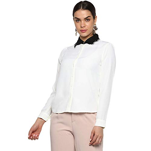 FRATINI WOMAN by Shoppers Stop Solid Casual Shirt (White_Large) for...