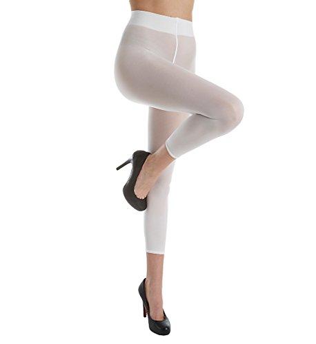 Wolford Damen Leggings (LW) Velvet 66 Capri, 66 DEN,white,Medium (M)