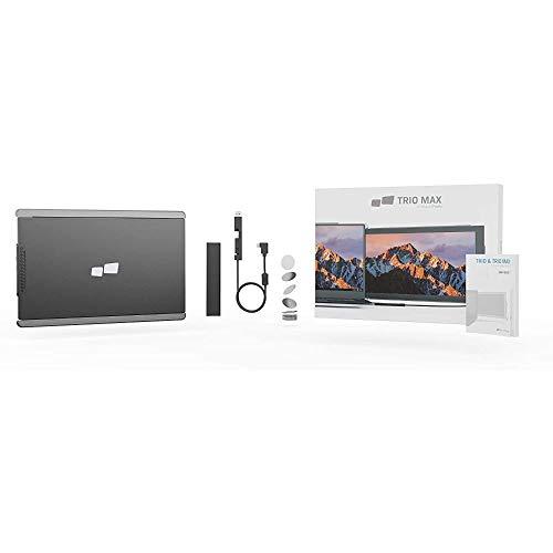 Mobile Pixels Trio Max Notebook-Monitor-System, 35,6 cm (14 Zoll) tragbares Monitor-System für Laptops, Schwarz