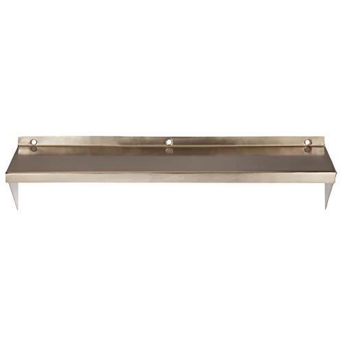 LaLe Living wandrek - RAF - van ijzer in goud met een plank als board voor wandbevestiging, afmetingen plank 44 x 11,5 cm