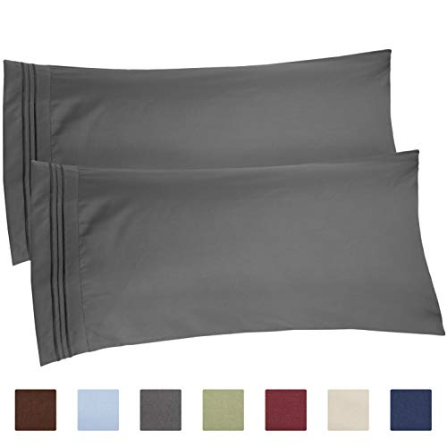 King Size Pillow Cases Set of 2 – Soft Premium Quality Hypoallergenic Pillowcase Covers – Machine Washable Protectors – 20x40 20x36 amp 20x48 Pillows for Sleeping 2 PC  King Size Pillow Cover Bedding