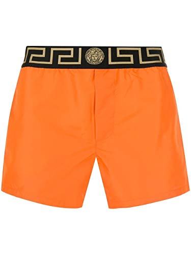 Versace Luxury Fashion Herren ABU01022A232415A1200 Orange Polyester Badeboxer | Frühling Sommer 20