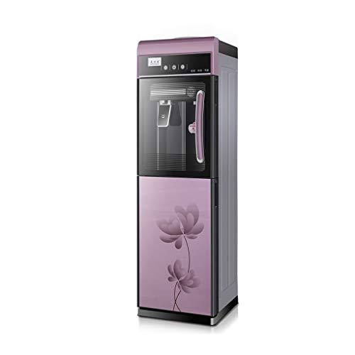 Refrigerador de agua de carga superior Dispensador de agua: 3 configuraciones de temperatura: caliente, fría y agua de la sala, Dispensadores de agua fría y caliente independientes, de color púrpura,