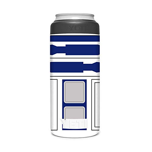 KRAFT'D Wrap Compatible with Yeti (R) Rambler 12 OZ Colster Slim Can Insulator - Decal Vinyl Only - Stylize Your Can Cooler for your Thin Can Beverages - Droid