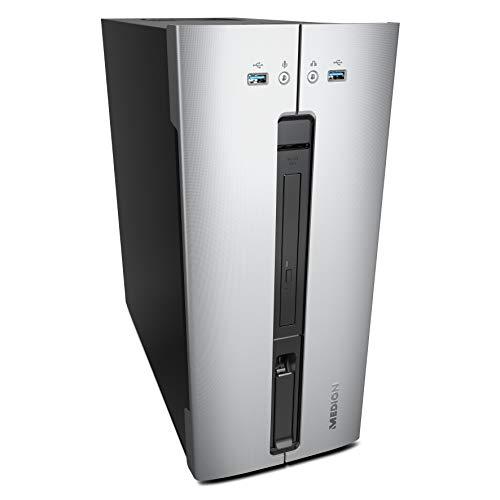 MEDION AKOYA M80 - Ordenador De Sobremesa (Intel Core I3-8100, 8GB RAM, 1TB De HDD, Intel Graphics, Windows 10) Color Plateado