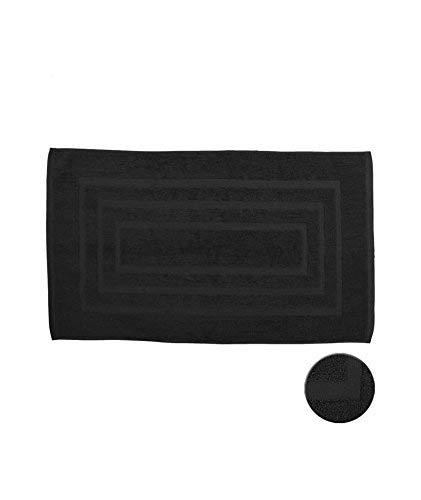 Today Tapis de Bain Coton, Noir, 85x50 cm