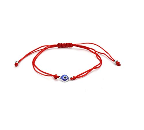 Evil Eye Red String Rope Bracelet Thread Charm Lucky Amulet Jewish Jewelry-Blue