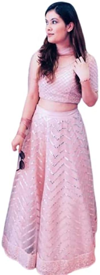Pink Soft Net Embroidered Lehenga Choli Indian Lehenga Choli Designer Lehenga Choli Bollywood lahanga choli
