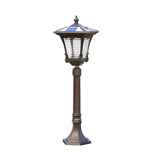 80cm LED Columna de luz solar Europea IP54 Impermeable Jardín al aire libre Vidrio Pilar Linterna de poste Exterior a prueba de lluvia Patio de césped Piscina comunitaria Lámpara de pilar de alumini