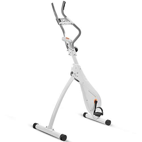 Hometrainers Christopeit Ergometer Magnetisch Gestuurde Spinningfiets Ultrastille Huishoudelijke Sportuitrusting Opvouwbare Indoorfiets (Color : White, Size : 115 * 58 * 140cm)