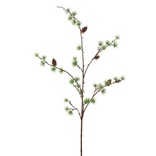 artplants.de Künstlicher Lärchenzweig mit PE Nadeln, 95cm - Deko Nadelbaumzweig - Kunstzweig