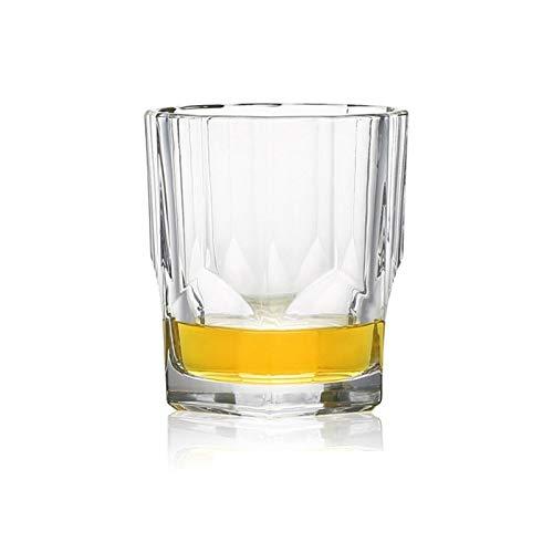 Copas De Vino Fiesta de Navidad Copa vaso de whisky de cristal de cristal Copas de alta capacidad del vidrio de cerveza taza del vino Bar Hotel cristalería 08 ( Capacity : 300 340ml , Color : NO7 )