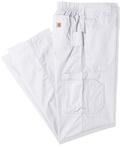 Carhartt Men's Petite Multi-Cargo Pant, White, Large Short