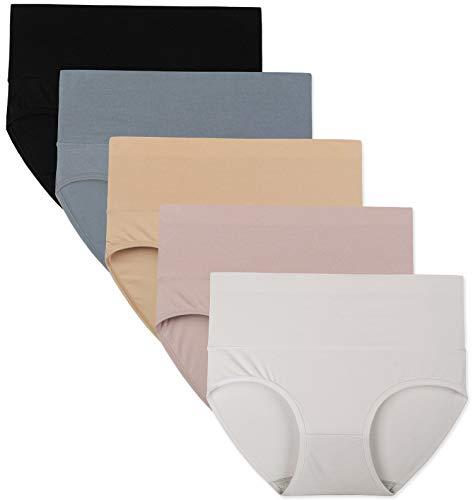 INNERSY Unterwäsche Damen Set Baumwolle Große Größen Panty Wochenbett Panties Mehrpack 5 (L, Mehrfarbig Klassiker)