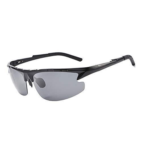 Yeeseu Gafas de sol de aluminio y magnesio gafas de sol for hombre de los vidrios del conductor de conducción espejo polarizador gafas de sol de moda gafas de moda (Color: Marrón, Tamaño: Libre) Cicli
